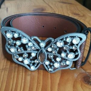 Accessories - Butterfly leather belt